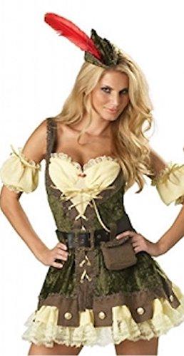 Damen 6 Stück Qualität Robin Hood Oktoberfest Bier Maid Kostüm Größe (Kostüm Bierfest)