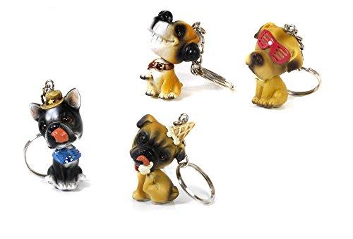 12 portachiavi cagnolini spiritosi testa snodata in resina bomboniera comunione cresima by mandorle