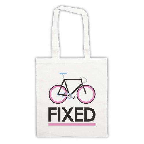 Fixed Gear-Borsa per bicicletta, in stile retrò Bianco
