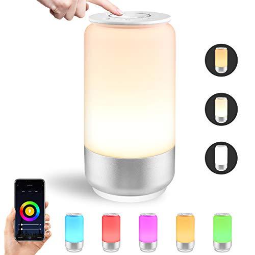 LE Lampada da Comodino Intelligente WiFi, Compatibile con Alexa e Google Home IFTTT, RGB e Bianco Dimmerabile (2000K - 6000K), 1000mA Lampada da Tavolo Smart Controllo da APP Smartphone