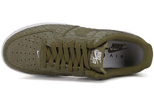 Nike Air Force 1 '07 Lv8, Sneakers basses homme Vert / Blanc (Mlt Green / White-Gm Lght Brwn)