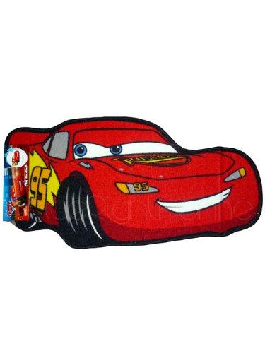 Image of Disney Cars 'Lightning McQueen' Shaped Floor Rug