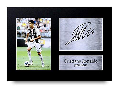 3a5c8d973beb7 Cristiano Ronaldo I Regali Firmarono A4 Stamparono Autografo Juventus  Mostra di Fotografia