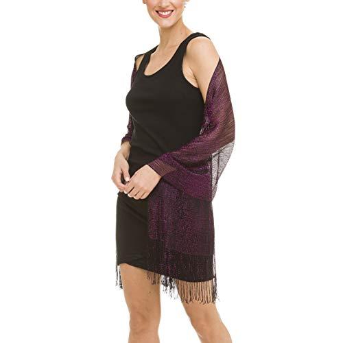 Schal Wrap Fashion Schal für Frauen für Frühling: Abendkleider, Hochzeit, Party, Brautschmuck - Violett - Einheitsgröße -