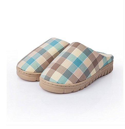Winter Home Floor Indoor peau-friendly confortable Coton Pantoufles Femme Lattice Coton Pantoufles ( couleur : N ° 4 , taille : 36-38 ) N ° 4