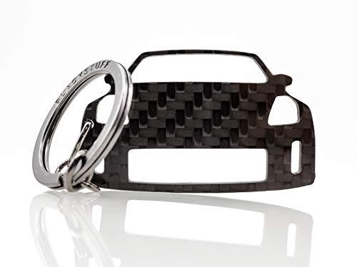 BlackStuff Carbon Karbonfaser Schlüsselanhänger Kompatibel Mit Nissan 350Z Z33 2002-2008 BS-646 (350z Carbon)
