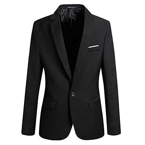 Wenyujh Homme Veste Blazer Slim Fit Manteau Jacket Costume Grande Taille Casual Mode pour Affaires Mariage
