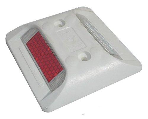 Weißer Parkplatz Markierungs Knopf / Markierungsnagel mit Reflektoren - Überfahrbar - Schraubbar