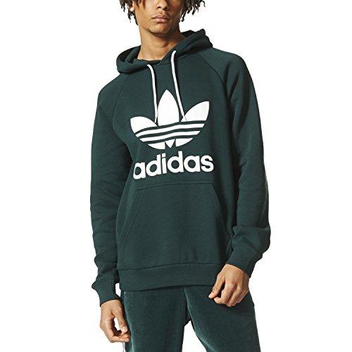adidas Herren Trefoil Hoody Sweatshirt, Green/Vernoc, xs (Adidas Sweatshirt Hoody)