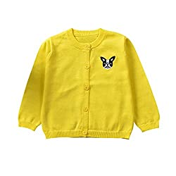 Baby Clothes,0-3TKnitted Colorful Dog Sweater Cardigan Coat Tops