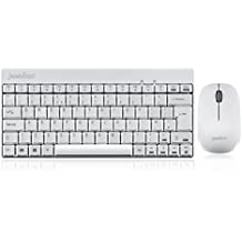 Perixx PERIDUO-712 Tastiera e Mouse Wireless - 2.4G - Bianco - Layout Italiano