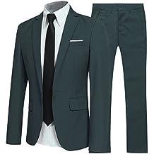 Costume Homme d affaire en cérémonie Mariage Veste et Pantalon Deux pièce  ... c40cc0e32af