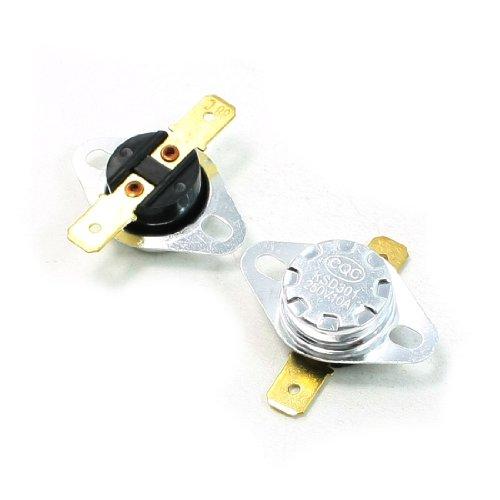 Sourcingmap 2PC 88C NC 2Pin Switch AC250V-Temperatur-Kontrolle Schweißen 10A (Schweißen Kontrolle)
