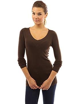 PattyBoutik Mujer v cuello manga larga jersey túnica