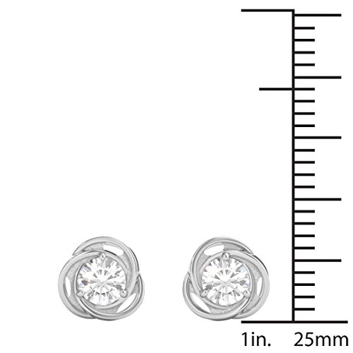 Diamond Studs Forever - Solitaire-Ohrstecker - 0,5 ct. Diamanten GH/I1 - Weißgold 14 K - 4
