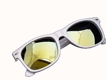 NERD® Sonnenbrillen Cool verspiegelt versch. Farben (Weiss-Grün)