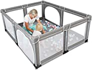 YOBEST Baby Playpen, Extra Large Playyard for Baby, Play Pens for Babies and Toddlers, Sturdy Safety Huge Baby