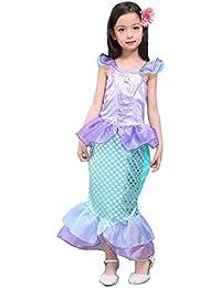 Sirena de cola de fantasía volante manga vestidos para niña princesa fiesta de navidad vestidos Ariel