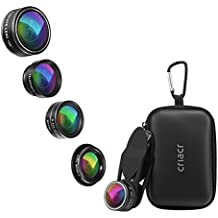 Criacr 5 in 1 lenti a Telefono, LG, HTC, Huawei, Samsung e Altri Smartphone Kit di Obiettivi per Telefono Cellulare Clip su Cellulare per iPhone 8/7/6 / 6s Plus