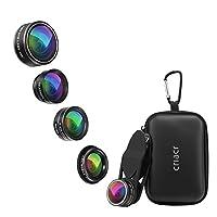 Description du produit: Criacr 5 en 1 kit de lentille de caméra de téléphone portable est une aide essentielle pour embellir le paysage et le portrait. Chacune des cinq lentilles a une fonction spéciale différente, ces fonctions permettent d'obtenir ...