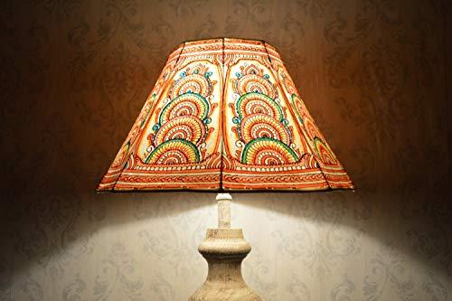 Stehlampenschirm in Multi Color Unique Pattern | Handgemachte Leder Lampenschirm in achteckiger Form - Höhe 9,5 und Breite 16 Zoll - Höhe Form
