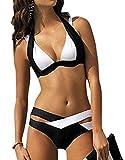 Toaho Sexy Damen Bikini Set Push Up Badeanzug Bademode Swimsuits