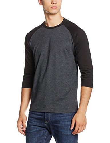 Urban Classics Contrast 3/4 Sleeve Raglan Tee, T-Shirt Uomo, Multicolore (Cha/Blk 314), 18-24 Mesi