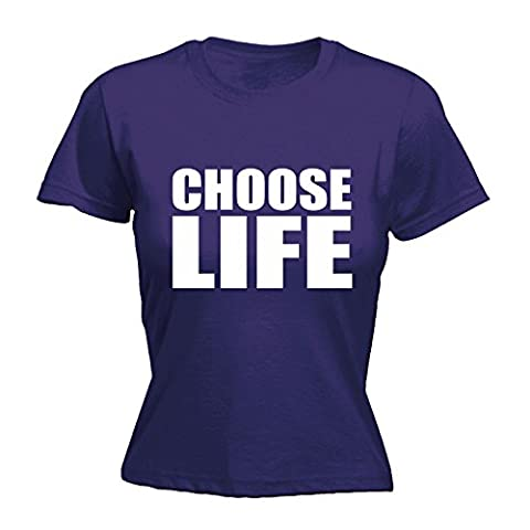 123t Women's Choose Life Funny T Shirt Sarcasm Tee Joke Top Humour Nerd Geek Novelty Fancy Dress Film TV Birthday Gift Ideas Christmas Present FITTED T-SHIRT funny