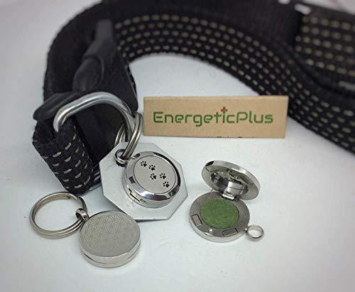 EnergeticPlus Medaillon für Hunde & Katzen, Abwehrstärkung gegen Zecken & Flöhe, 100% natürlicher Fellschutz (Halsband-Anhänger inkl Aroma-Öl)
