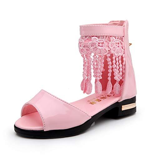 Vovotrade Mädchen Fransen Fisch Mund Prinzessin Schuhe römische Stiefel Tanzschuhe Sandalen, Mary Jane Lok Fu Schuhe und Booties, Quasten fügen einen Hauch von ()