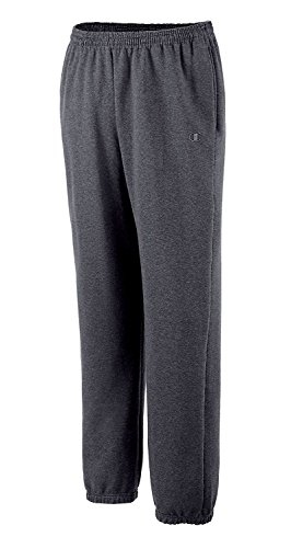 Champion Athletic Sneakers (Champion Men's Big and Tall Fleece Pant (Charcoal Heather, Large/Tall))
