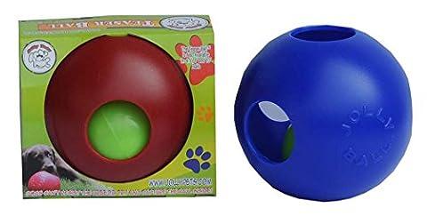 Jolly Pets Teaser Ball in Ball 15 cm Hundeball | Hundespielzeug | Dog Mind Game, blau
