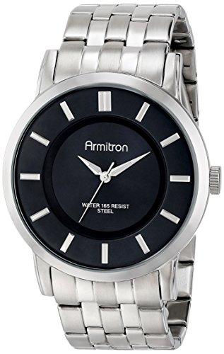 armitron-homme-20-4962bksv-black-sunray-dial-silver-tone-bracelet-montre