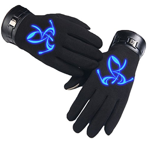 Bromeo Fate Zero Fate stay Night Anime Hiver Chaud Lumineux Écran Tactile Gants Gloves Mittens Noir 11