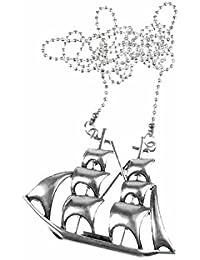 XL velero collar de cadena Miniblings velero piratas barco vela 80 cm mangueras