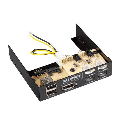 Preisvergleich Produktbild Xilence Lüftersteuerung (8, 9 cm (3, 5 Zoll) eSATA,  2x USB)