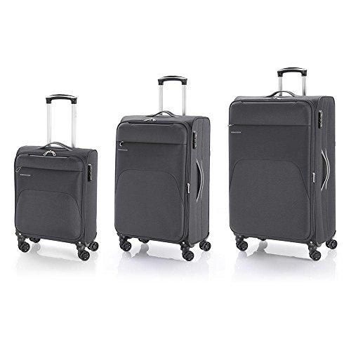 Gabol Pack de tres Maletas, 79 cm, 31 L / 60 L / 90 L, Gris