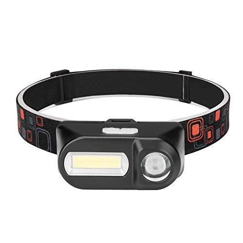 Winzwon LED Stirnlampe, USB Wiederaufladbare Kopflampe, Wasserdicht Leichtgewichts Mini COB stirnlampen Perfekt fürs Laufen, Joggen, Angeln, Campen, für Kinder und mehr