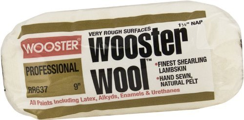 Wooster Brush RR637-9 Wooster Wool Roller Cover 1-1/2-Inch Nap, 9-Inch by Wooster Brush - Nap 9
