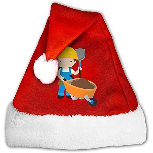 Kenice Rot Weihnachten Hüte,Weihnachtsmann Hut,Weihnachtsmützen,Santa Claus Mütze,Karikatur-Arbeiter Santa Claus Cap,Party-Dekoration,Weihnachtsfeiertags-Hut M