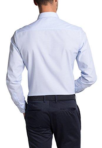 Eterna Long Sleeve Shirt Slim Fit Fil à Fil Uni azzurro chiaro