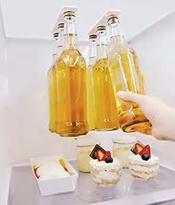 Supporto magnetico Bottiglia di birra, Magnetic bottiglia di birra gancio, salva spazio e organizza bottiglie al frigorifero Tetto e griglie - un ottimo regalo per chi ama birra fredda - Magenesis®