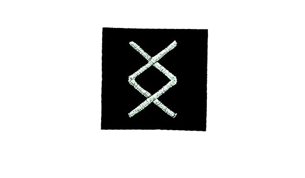 Patch ecusson brode thermocollant viking odin sorcellerie rune alphabet human