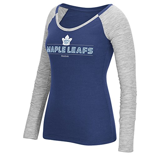 toronto-maple-leafs-womens-beveled-shine-long-sleeve-t-shirt-size-x-large
