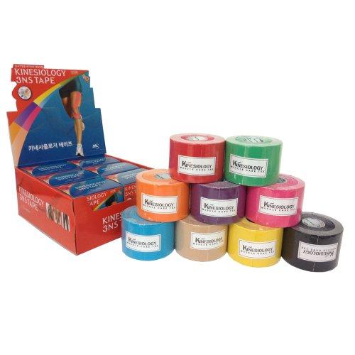 3NS TEX Kinesiologie Muskel Pflege Tape Sport Bandage (Schwarz(Black), 1 roll) - Muskel-pflege