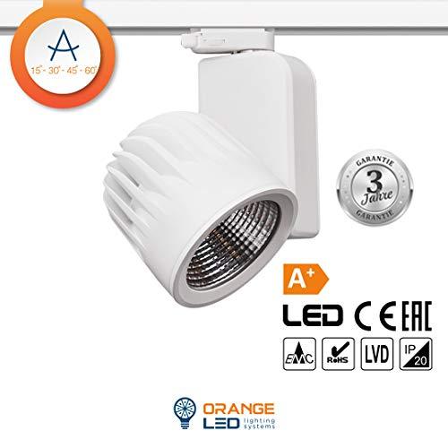 ORANGE LED 3 Phasen Schienen LED Strahler,OR-601 40W 30° weiß (4000K) -