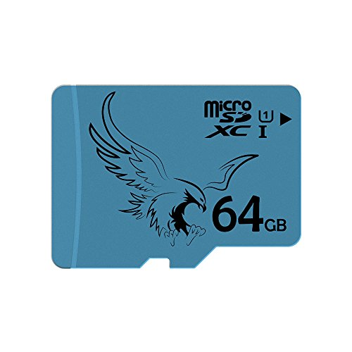 BRAVEEAGLE 5 Pack Micro SD-Karte 64 GB Class 10 U1 Speicherkarte 5 Pack SD-Karte High Speed für Galaxy Note/Kindle Fire/GoPro (5 Pack x 64 GB U1) - High-speed Microsdhc-karte