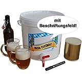 Mein Freibier Bier Brau Set Craft Beer zum selbst brauen (Helles) bis zu 25 Liter