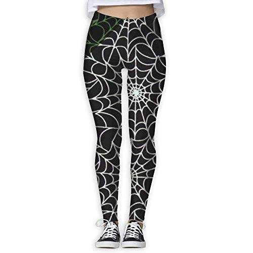 Pantaloni da Yoga, Leggings da Allenamento,Spider Web Glow in The Dark Women Printed Full-Length Yoga Workout Leggings for Running Outdoor Sports