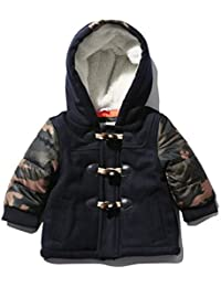 M&Co Baby Boy Long Camouflage Print Sleeve Toggle Fastening Fleece Lined Hood Duffle Coat
